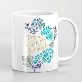 Sucker for Succulents (Blue Palette) Coffee Mug