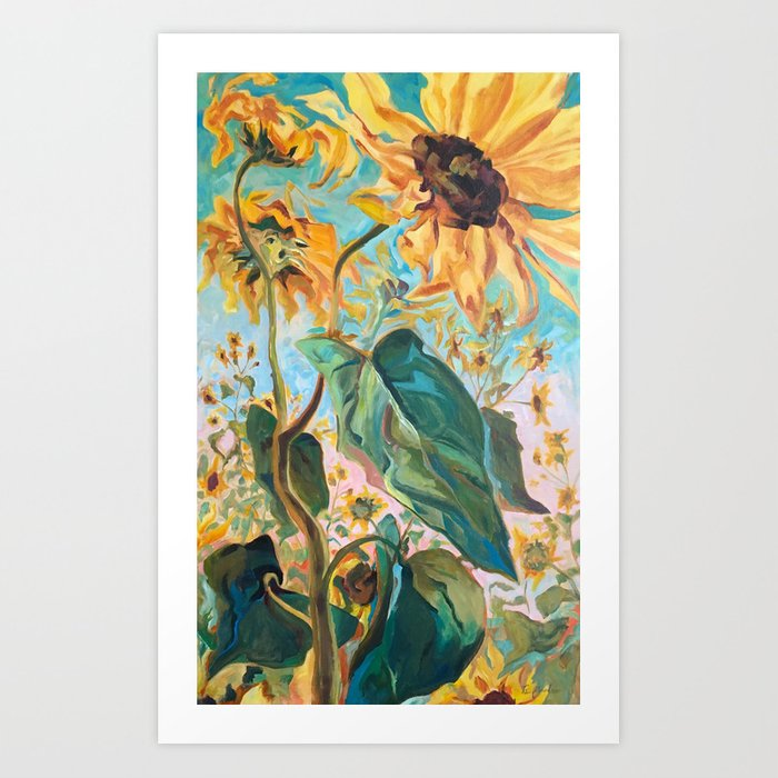 Wild Sunflower Art Print