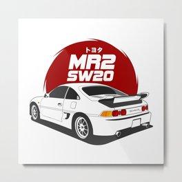 MR2 SW20 White Metal Print
