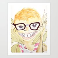 The Nerd Pixi Art Print