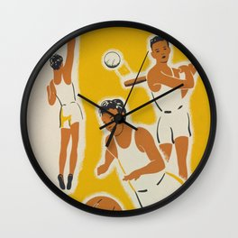 Vintage athletics poster Wall Clock