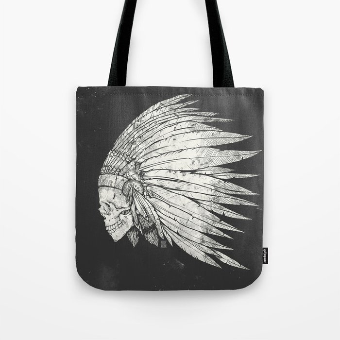 Indian Skull Tote Bag