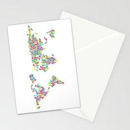 Tetris world (white one) Stationery Cards