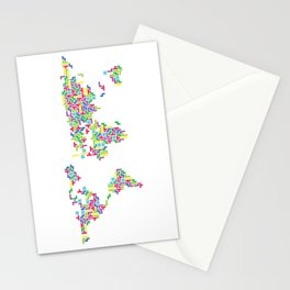 Tetris world (white one) Stationery Cards