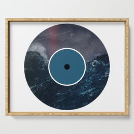 Vinyl Record Art & Design | Stormy Ocean Serving Tray