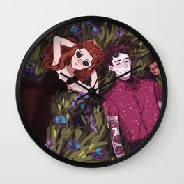Hades' Holiday Wall Clock