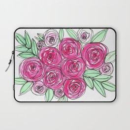 Watercolor Pink Rose Bouquet Laptop Sleeve