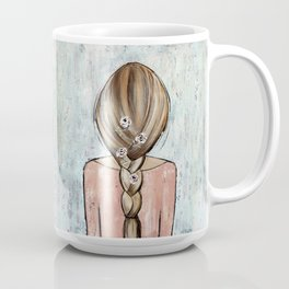 Flower Girl Braided Hair Painting Coffee Mug