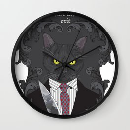American Psycho Kitty Wall Clock