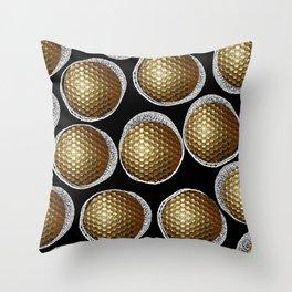 BLACK & WHITE & GOLD Throw Pillow