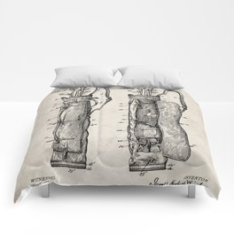 Golf Bag Patent - Caddy Art - Antique Comforters