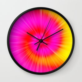 TIE DYE #1 (Fuchsias-Magentas, Reds, Oranges & Yellows) Wall Clock