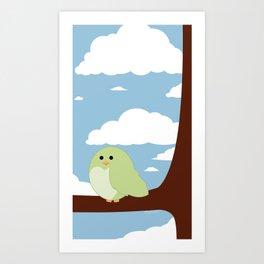 Fat Bird  Art Print