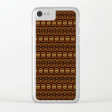 Dividers 07 in Orange Brown over Black Clear iPhone Case