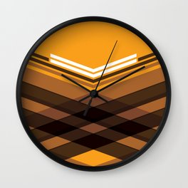 Brown Stripes Wall Clock