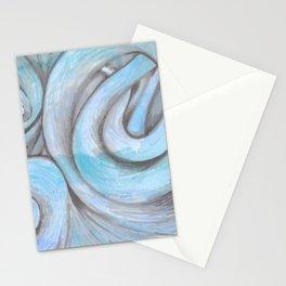 swirl (light blue) Stationery Cards