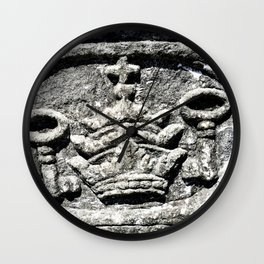 Ancient Church Carvings Wall Clock
