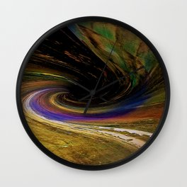 The winding road to the other side Wall Clock