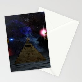 OM and the space Pyramid Stationery Cards