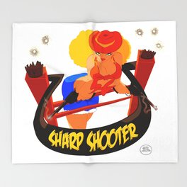 Sharp Shooter Throw Blanket