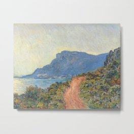 La Corniche near Monaco by Claude Monet, 1884 Metal Print