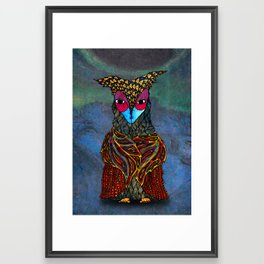 Owl-Girl Framed Art Print