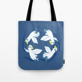 Cockatoo Angels (Blue) Tote Bag