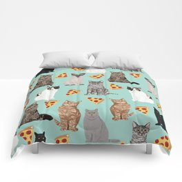 Cats pizza slices food cat lover pet gifts must have cat breeds Comforters