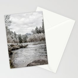 Wintry River Stationery Cards