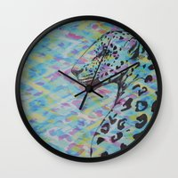 camo Wall Clocks featuring Camo by Caballos of Colour