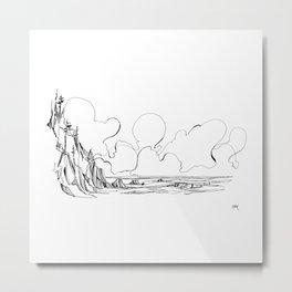 Surf's Up Short Sands Metal Print