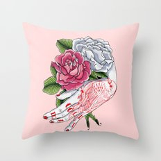 Cold Dead Throw Pillow
