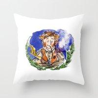 hobbit Throw Pillows featuring Hobbit by Kris-Tea Books
