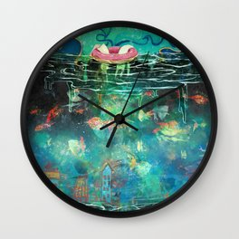 Under the starry night Wall Clock