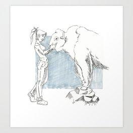 Buffallo Whisperer Art Print