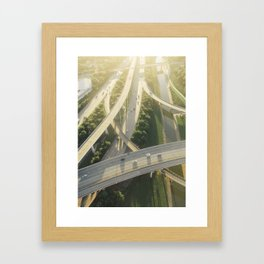 Houston Highways Framed Art Print