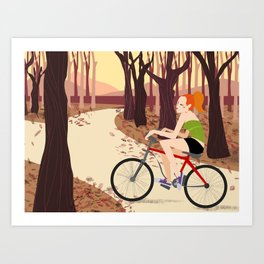 Bike Girl Art Print