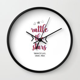 Rattle the Stars | Throne of Glass Wall Clock