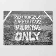 Lifeguard Parking Space Canvas Print