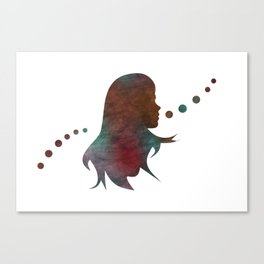 Talking Bubble (colorful silhouette) Canvas Print