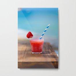 Tropical Summer Drink Metal Print