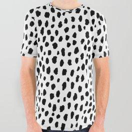 Dalmatian Spots (black/white) All Over Graphic Tee