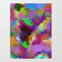 Expression Of Colour - Abstract, modern painting Poster