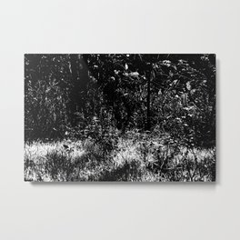 Forest mess black and white high contrast abstract plants Metal Print