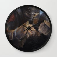 hiccup Wall Clocks featuring Soul of a Dragon by Samanthadoodles