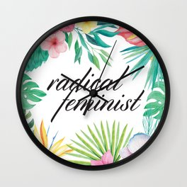 Radical Feminist Wall Clock