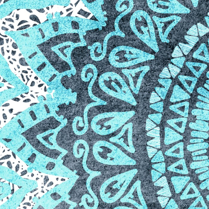 BOHOCHIC MANDALA IN BLUE Leggings
