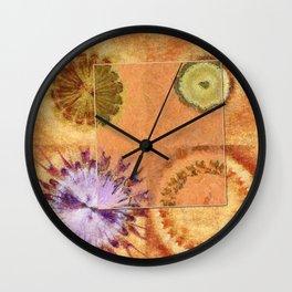 Perambulations Feel Flowers  ID:16165-100731-65461 Wall Clock
