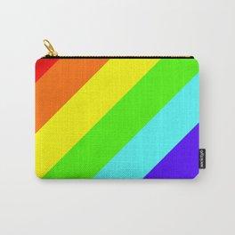 Stripes Diagonal Rainbow Carry-All Pouch