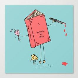 Murder She Read Canvas Print
